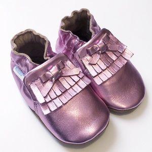 NIB Robeez Mackenzie Moccasin Metallic Pink